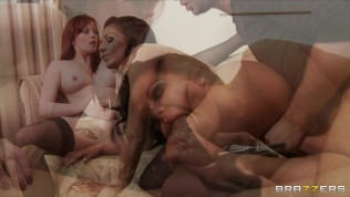 Two busty British maids share a big-dick in a hot threesome